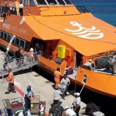 Aumentó 7% el flujo de pasajeros en la ruta Playa del Carmen-Cozumel en diciembre de 2019, según estadísticas de Apiqroo