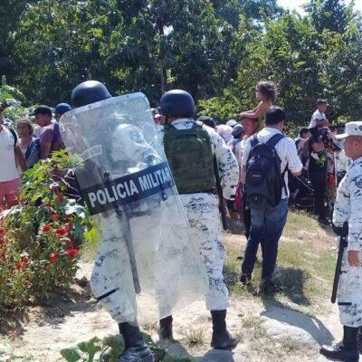 Nuevo enfrentamiento entre migrantes hondureños y Guardia Nacional en Chiapas