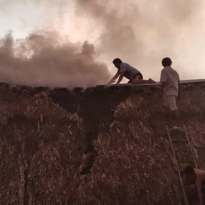 Niños queman techo de una casa con 'bombitas' en JMM