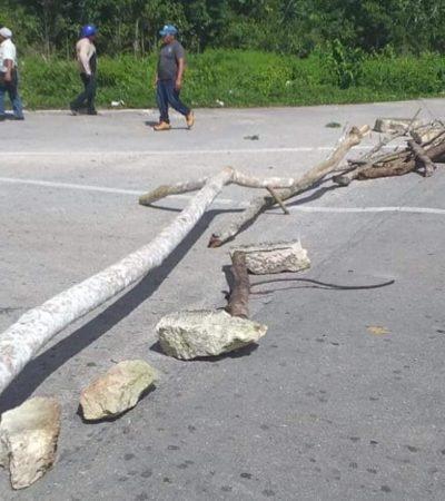 Levantan bloqueo de carretera Chetumal-Cancún