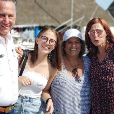 Denisse de Kalafe presume visita de Tatiana Clouthier a Holbox y usuarios de redes sociales la acusan de invadir la zona federal marítimo terrestre