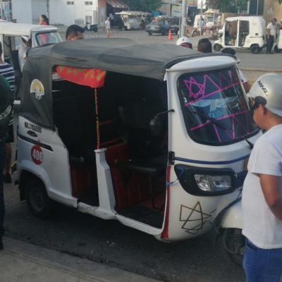 Atropella mototaxista a mujer en Villas del Sol
