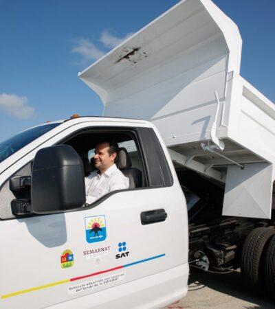Se prepara Zofemat para atender recale de sargazo con ayuda de 11 vehículos nuevos en Cozumel