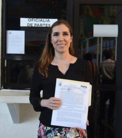 Entrega Atenea Gómez propuesta para modificar Ley de Hacienda de BJ y eliminar cobro por 'contenedores inteligentes'