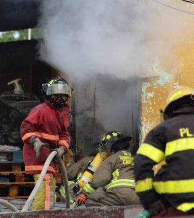Corto circuito provoca incendio en una vivienda de la SM 26 en Cancún; no se reportan heridos