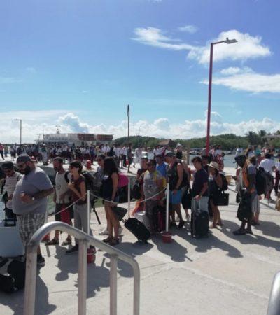 Participan habitantes, autoridades y turistas de Holbox en simulacro de tsunami