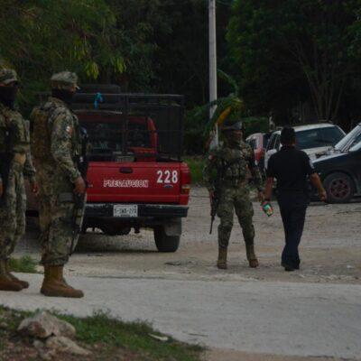 Detienen a dos sujetos durante operativo policiaco en zona conurbada de Cancún