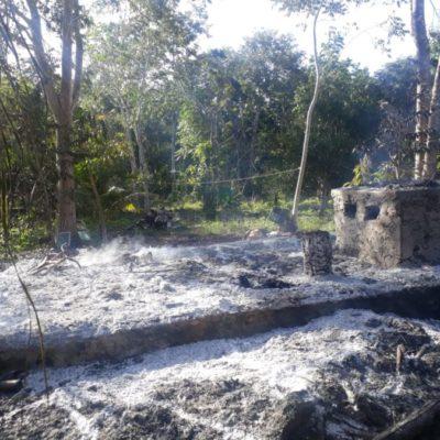 Incendian casa de líder ejidal en comunidad de José María Morelos