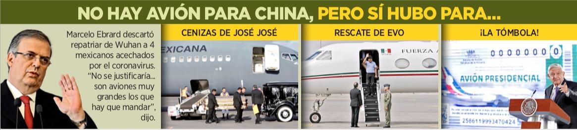 NO HABRÁ AVIÓN DE RESCATE: Entrarán en cuarentena quienes lleguen de China, dice Ebrard