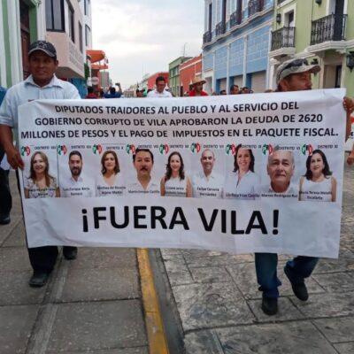 NUEVA PROTESTA EN MÉRIDA: Más yucatecos inconformes con el gobierno de Vila Dosal salen a las calles