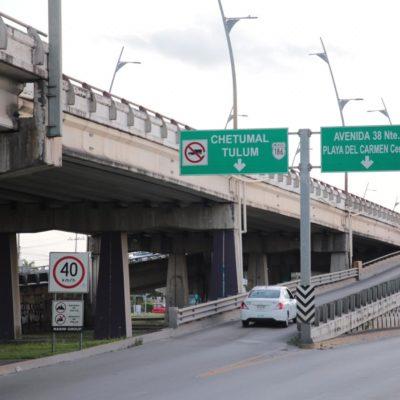 AVISO | Cerrarán puente a desnivel de Playa del Carmen por trabajos de mantenimiento
