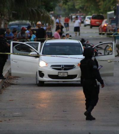 EJECUCIÓN AFUERA DE UNA ESCUELA: Tirotean a un hombre que dejaba a su hijo en clases en la Región 229 de Cancún