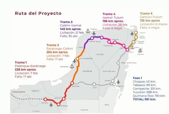 LE PONEN FECHA AL ARRANQUE DEL TREN MAYA: Los dos tramos de Quintana Roo dentro del proyecto iniciarán obra el 25 de mayo, anuncia Fonatur