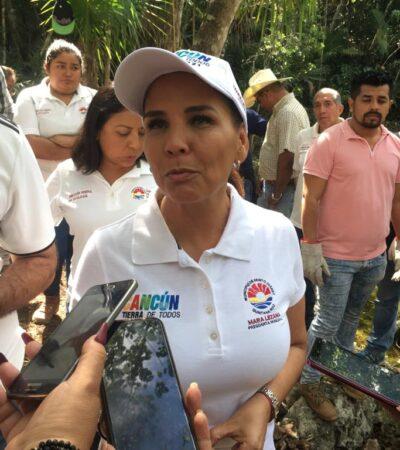 """""""MI PECADO ES HABERME METIDO A LA POLÍTICA"""": A su regreso de Madrid, Mara Lezama rechaza cuestionamientos y dice que a ella la puso AMLO en la presidencia municipal de BJ"""