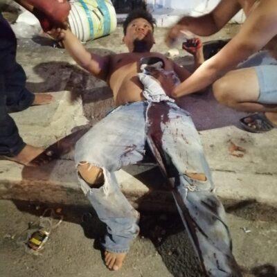 INSEGURIDAD EN CANCÚN: Apuñalan a albañil por oponerse a un asalto en la Región 100