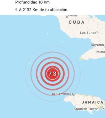 Implementan protocolos de Protección Civil en QR por percepción de sismo de 7.3 grados originado entre Cuba y Jamaica