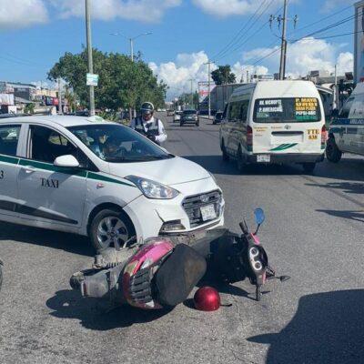 Manda taxista a una motociclista al hospital en Cancún