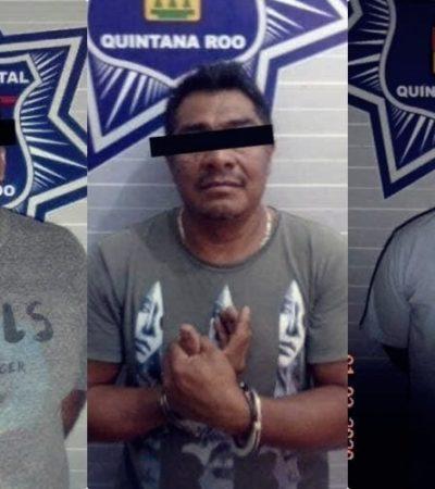CAEN PRESUNTOS LADRONES DE CARRETERAS: Detienen a tres hombres y los relacionan con asaltos en el tramo Tulum-FCP