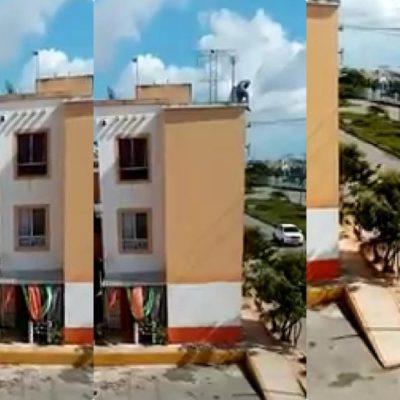 SEGUIMIENTO | Sigue sin aparecer el supuesto ladrón que cayó de un edificio en Villas Otoch Paraíso