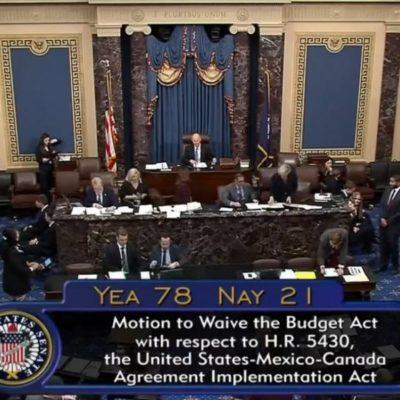 Senado de Estados Unidos aprueba T-MEC por amplia mayoría; ahora a esperar a Canadá
