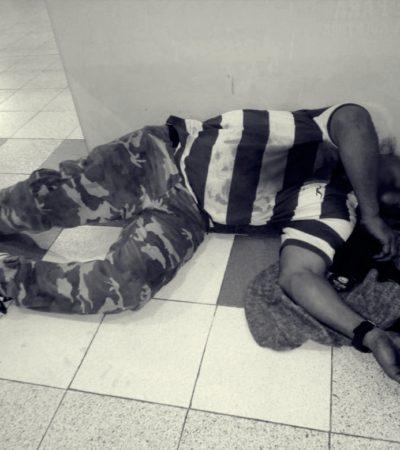 Encuentran muy golpeado a un hombre en terminal de autobuses de Cancún