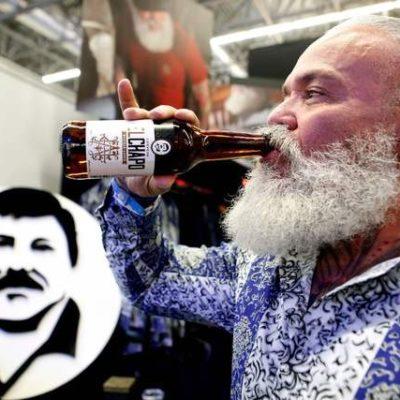Lanza hija de El Chapo cerveza artesanal con la imagen del capo preso de por vida en EU