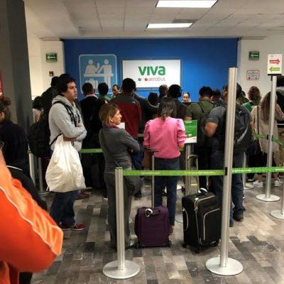 Cancelan vuelos de Viva Aerobus en Día de Reyes por paro de labores; Chiapas y Quintana Roo, entre los afectados