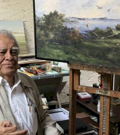 Fallece el pintor morelense Jorge Cázares; su obra apareció en las cajas de cerillos en los años 70