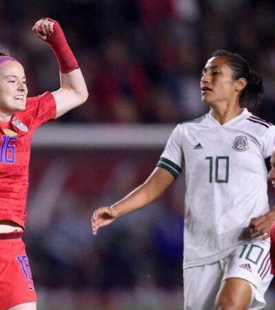 Destroza Estados Unidos el sueño olímpico de la selección mexicana femenil con 4 tantos contra 0