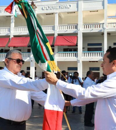 Encabeza Gobernador celebración en Chetumal por el 199 aniversario de la Bandera de México
