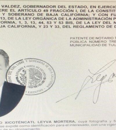 ASÍ, EL PAGO DE 'FACTURAS' DEL MORENISMO EN BC: Entrega Gobernador Bonilla notarías a su 'padrino' político