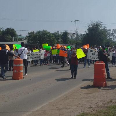 Exigen pobladores salida de Guardia Nacional y Fuerza Civil en el municipio de Isla en Veracruz