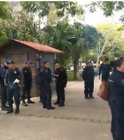 PARO DE POLICÍAS EN BACALAR: Retoman elementos movimiento de protesta ante incumplimiento de demandas