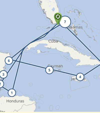 LA RUTA DEL 'MSC MERAVIGLIA': El crucero bajo sospecha estuvo en Quintana Roo el pasado 20 de febrero; Cozumel está dentro de su itinerario