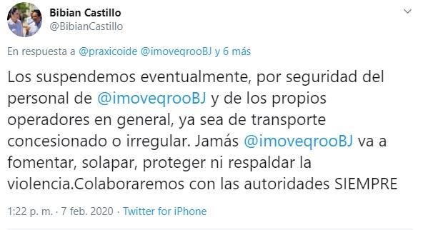 """Anuncia Bibian Castillo suspensión """"eventual"""" de operativos, tras agresión a Uber"""
