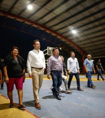Supervisan obras de modernización y mantenimiento de luminarias en la colonia Ampliación CTM de Cozumel