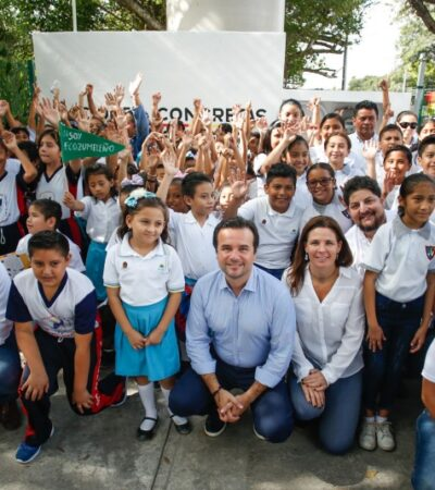 """Ponen en marcha los talleres """"Soy Ecozumeleño"""" para fomentar el cuidado ambiental entre niños y jóvenes, en escuelas de la isla"""