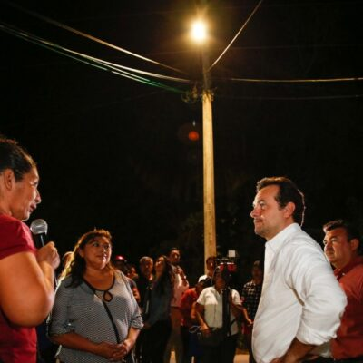 Se benefician más de mil 400 habitantes en Las Fincas, al concluir obra de modernización y mantenimiento de luminarias en Cozumel