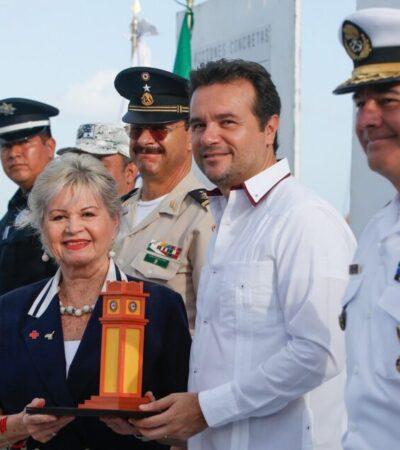 Entregan reconocimiento a la Cruz Roja Mexicana en Cozumel