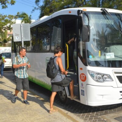 Transporte público cambiará ruta y horarios en días de carnaval en Isla Mujeres