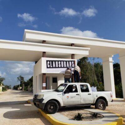 Clausuran desarrollo irregular en El Mezquital, en Cancún