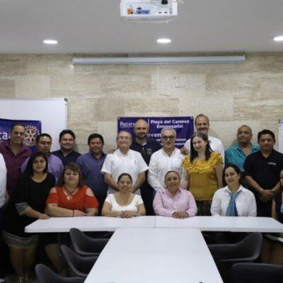 """Presenta Cristina Torres el proyecto de registro único """"RUPA"""" a empresarios de Sindemex en Playa del Carmen"""