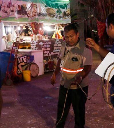"""Realizan operativo de verificación en puestos y juegos que se instalarán para el """"Carnaval Cozumel 2020"""""""