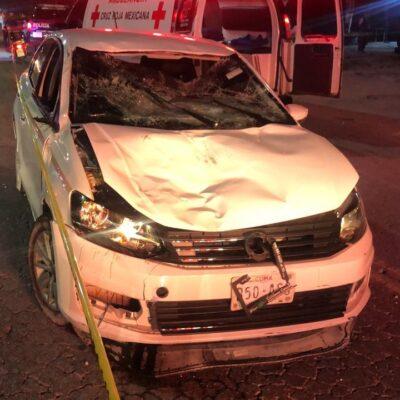 EMBISTE AUTO A VARIAS PERSONAS EN CANCÚN: Trágico accidente en el bulevar Colosio deja dos muertos y al menos dos heridos