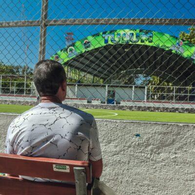 Equipan instalaciones deportivas del Parque 'Dos Aguas' en Tulum