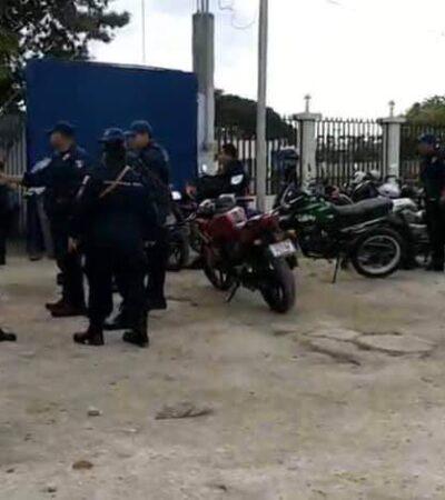 PARO LABORAL DE POLICÍAS EN BACALAR: Inician huelga en reclamo de prestaciones no pagadas por el Alcalde Alexander Zetina