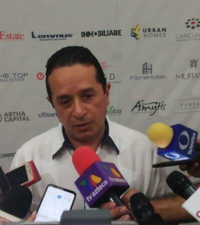 Ante quejas por megaproyectos en Cacún, asegura Gobernador que se trabaja con Sedetus para solventar necesidades de la Zona Hotelera
