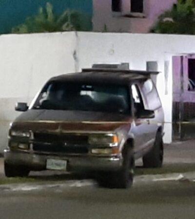 ATAQUE A BALAZOS AL AMANECER: Disparan contra camioneta con dos personas en la entrada de Chetumal