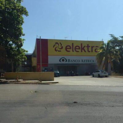 Roban 5 millones a Banco Azteca en Chetumal
