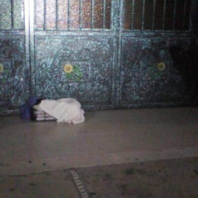 Se encuentra sano el recién nacido que fue abandonado afuera de una iglesia en Cozumel